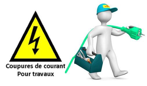 Coupure d'électricité pour travaux le 9/03/2021