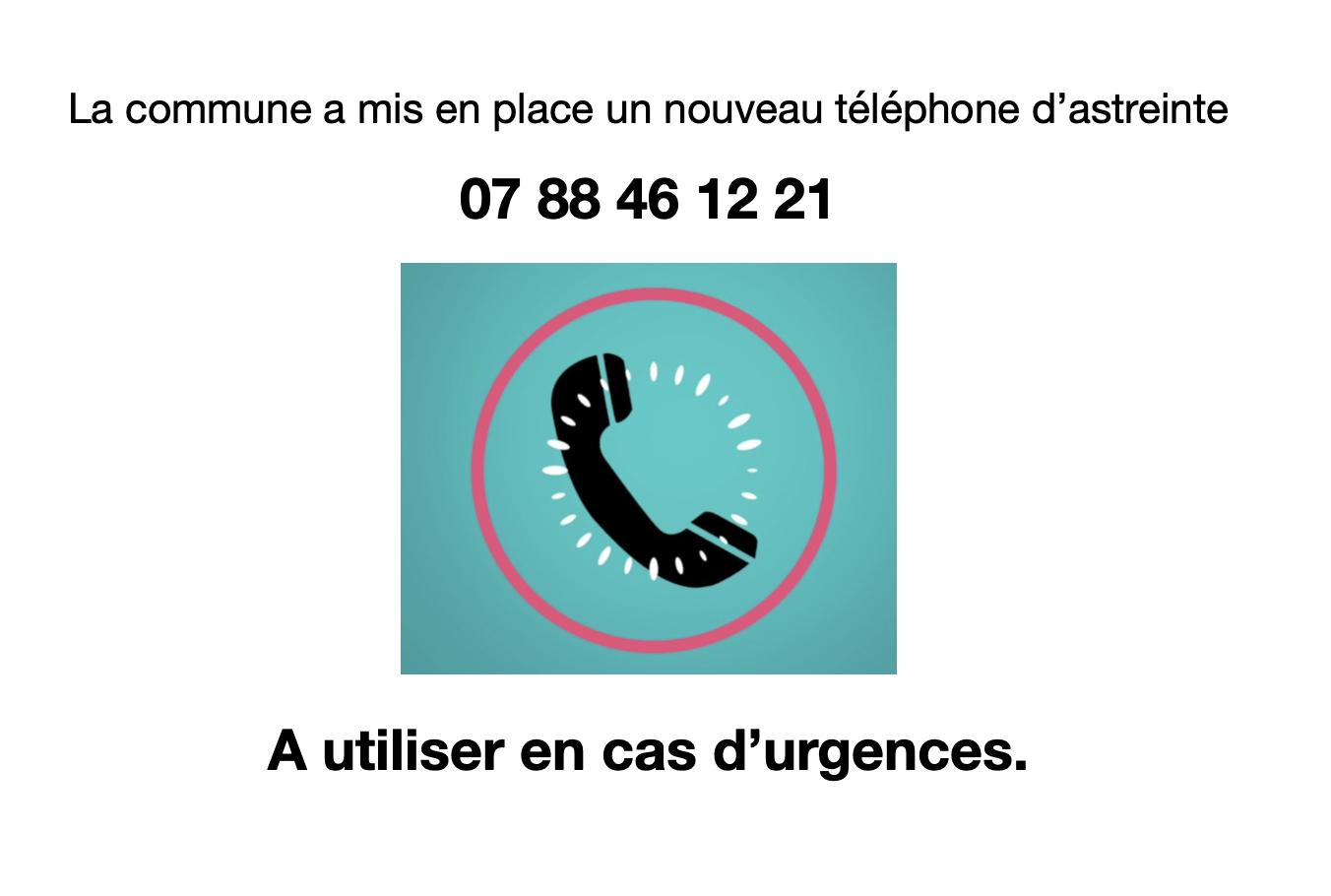 Téléphone d'astreinte de la Mairie